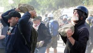 guerriglia contro la TAV - foto da internet